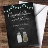 Salt And Pepper Divorce / Break Up Customised Card
