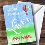 Finally Free Divorce / Break Up Customised Card