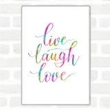 Live Laugh Love Rainbow Quote Magnet
