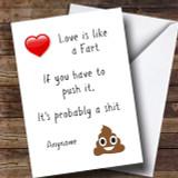 Funny Poo Divorce / Break Up Customised Card