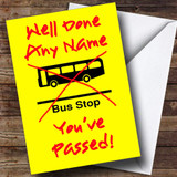 Bus Stop Customised Passed Driving Test Card