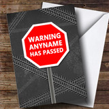 Customised Chalk Funny Road Sign Warning Passed Driving Test Card