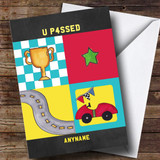 Customised Chalk Retro Passed Cartoon Passed Driving Test Card