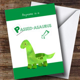 Customised Funny Passed Dinosaur Passed Driving Test Card