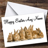 Lots Of Bunny Rabbits Customised Easter Card