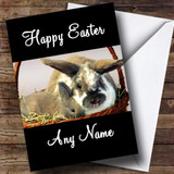 Cute Rabbits Customised Easter Card