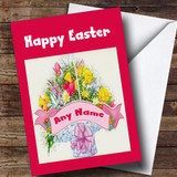 Bunch Of Flowers Customised Easter Card