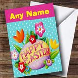 Polka Dot Customised Easter Card