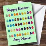 Mint Green Easter Eggs Customised Easter Card