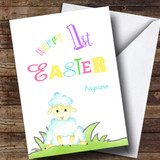 Customised Colourful Text Lamb Easter Card
