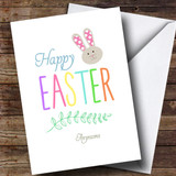 Customised Colourful Text Easter Card