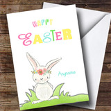 Customised Colour Rabbit Easter Card