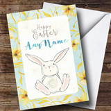 Customised Yellow Floral Easter Card