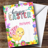 Customised Spring Chick Easter Card