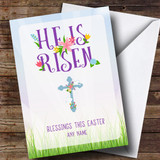 Customised He Is Risen Easter Card