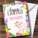 Customised Spring Lamb Easter Card