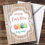 Customised Wood Eggs Easter Card