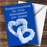 Love Heart Clouds Romantic Customised Engagement Card