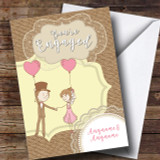 Love Balloons Engagement Customised Card
