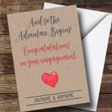 Adventure Engagement Customised Card