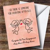 Customised Funny Someone For Everyone Gay Lesbian Engagement Card