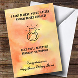 Customised Funny Next You'll Be Pregnant Engagement Card