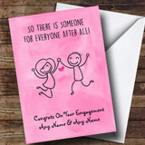 Customised Funny Someone For Everyone Engagement Card