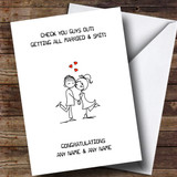 Customised Funny Check You Guys Out Engagement Card