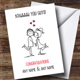Customised Funny Cute You Guys Engagement Card
