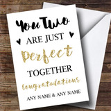 Customised Perfect Together Engagement Card