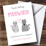 Customised Funny Cute Cats Engagement Card