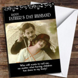 Funny Retro Husband Customised Father's Day Card