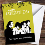 Retro Beatles Revolution Customised Father's Day Card