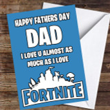 Blue Playing Fortnite Customised Father's Day Card