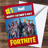 Fortnite Number One Dad Customised Father's Day Card