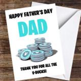 Fortnite V-Bucks Customised Father's Day Card