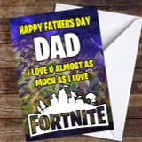 Map Playing Fortnite Funny Customised Father's Day Card