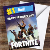 Number One Dad Fortnite Customised Father's Day Card