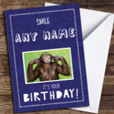 Funny Cheeky Monkey Customised Birthday Card