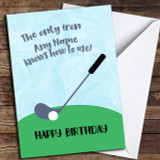 Funny Golf Customised Birthday Card