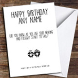 Funny Old Age Eyesight Hearing Joke Customised Birthday Card