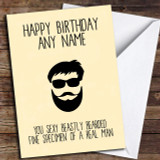 Funny Sexy Beard Joke Bearded Man Customised Birthday Card