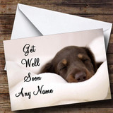 Sleeping Puppy Dog Customised Get Well Soon Card
