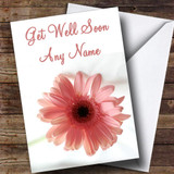Stunning Pink Flower Customised Get Well Soon Card
