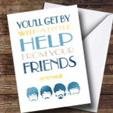 Cancer Beatles Friend Male Customised Card