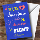 Cancer Survivor Beat This Customised Card