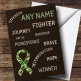 Cancer Army Survivor Customised Card