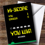 Cancer Gaming Winner Customised Card