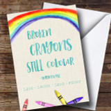 Cancer Crayons Customised Card