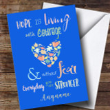 Beat Cancer Customised Card